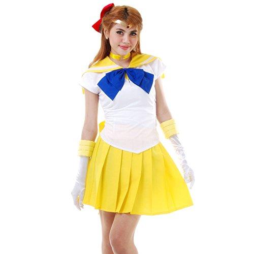 Minako Aino Sailor Venus Cosplay Kostüm Japanische Schuluniform Baumwolle S