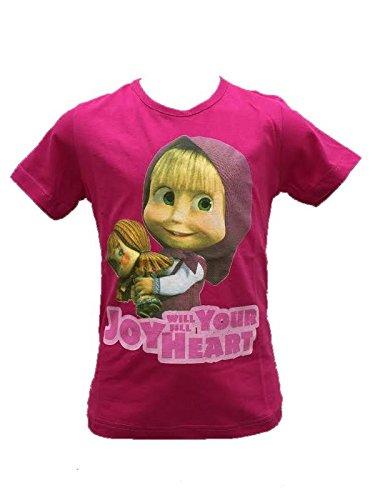 T-shirt maglietta Bimba Masha e Orso *21195 Maglia Manica Corta-5 anni-4