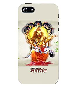 Fuson Premium Jai Narasimha Printed Hard Plastic Back Case Cover for Apple iPhone 5 5S