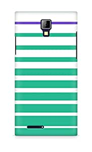 Amez designer printed 3d premium high quality back case cover for Micromax Canvas Express A99 (green stripes design)