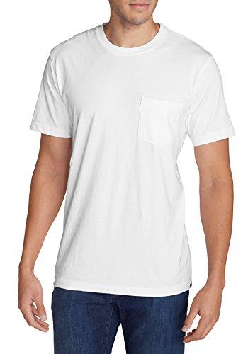 Eddie Bauer Herren Legend Wash T-Shirt-Kurzarm mit Tasche, 332249 Weiß (