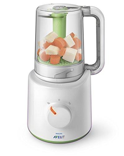 Philips Avent 2-in-1 Babynahrungszubereiter SCF870/20, Dampfgaren und Mixen, 800ml Kapazität, weiß