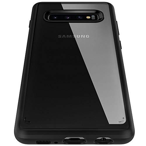 Spigen 605CS25802 Ultra Hybrid Kompatibel mit Samsung Galaxy S10 Hülle, Einteilige Transparent Durchsichtige Schutzhülle Case Schwarz