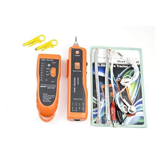 Goeco RJ11 RJ45 Netzwerkkabel-Tester LAN Tracker Draht Finder Leitungssuchgerät Leitungssucher CAT5 CAT6 mit 2 Netzwerk Abisolierzange, 9-V-Batterie und Toolkit