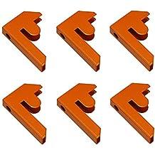 Monster Racking - 6 Connettori Arancioni per Scaffali Aqua-Rax