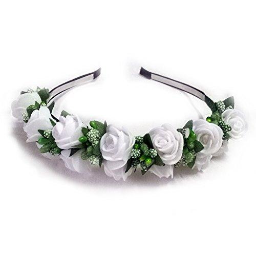 TININNA Elegante fai da te foto puntelli nuziale Fiore Corona Fascia per capelli Accessori di sposa Copricapo Cerchietti Bianco