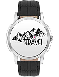 Travel Watch - BigOwl Travel Airplane World Map Design Leather Strap Casual Wrist Watch For Men - Perfect Gift...
