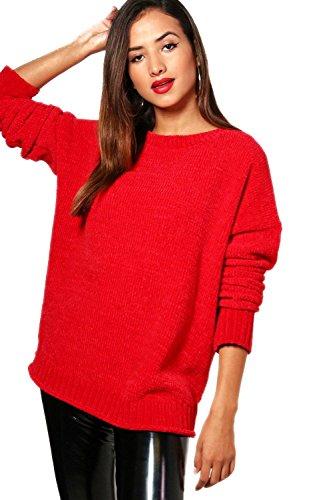 rouge Femmes Lexi Chenille Jumper Rouge
