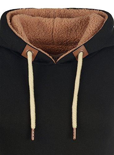 DESIRES VICKY-PILE Hood - sweat à capuche - Femme Black (9000)
