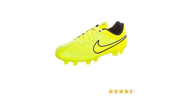 mil Rebelión fusión  Nike Tiempo Genio Leather FG Football Shoe Junior: Amazon.co.uk: Sports &  Outdoors