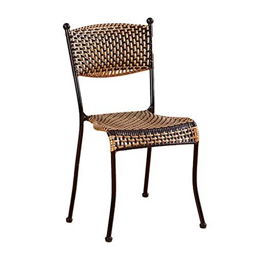 Wicker-schreibtisch-stuhl (ACZZ Home Wohnzimmer Lounge Stuhl Balkon Stuhl Outdoor Kinder 'S Hot und Home Hocker Handmade Wicker Stuhl Rückenlehne Stuhl Studie Schreibtisch Stuhl,Schwarz,60cm)
