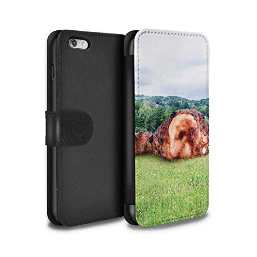Stuff4 Coque/Etui/Housse Cuir PU Case/Cover pour Apple iPhone 6+/Plus 5.5 / Météore Design / Vers Bas Sous Collection Météore