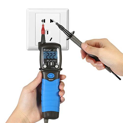 Preisvergleich Produktbild Tragbare Digitale Multimeter,  Multimedigital Voltmeter Voltmeter Voltage Meter Pen Type Diode esr Meter Resistance Meter DC AC Continuity Tester