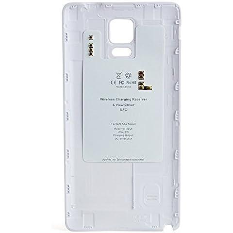 ohpa Funda Cubierta posterior de batería receptor Cargador inalámbrico para Samsung Galaxy Note 4SM-N910, compatible con Samsung Galaxy Note