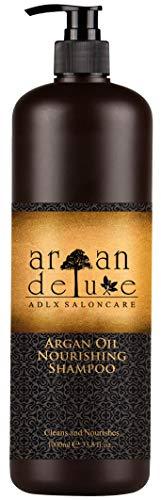 Argan Deluxe Shampoo in Friseur-Qualität 1000 ml - stark pflegend mit Arganöl für Geschmeidigkeit und Glanz