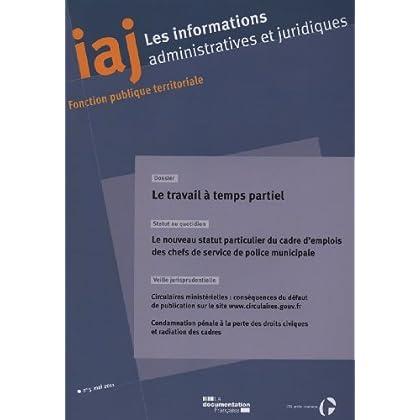Le travail à temps partiel (IAJ n.5 - mai 2011)