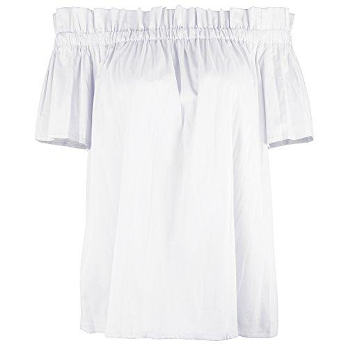 ISASSY Damen T-Shirt rosa aprikose Medium Weiß