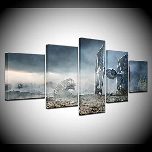 Animation Poster 5 Panels Movie Star War Destroyer Leinwand Malerei Wandkunst Bilder Modulare Tapeten Poster Print für Wohnzimmer Wohnkultur