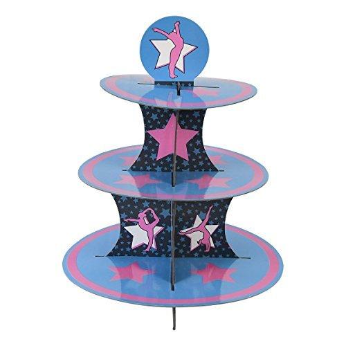 änder & Pick Kit, Turnerin Party Supplies, Dekorationen, Geburtstage, Gymnastikreifen Wettbewerb, Kuchen Dekorationen, 3Etagen Karton ()