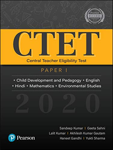CTET 2020: Paper 1 | Child Development and Pedagogy, English, Hindi, Mathematics, EVS | First Edition | By Pearson