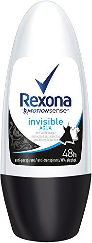 Rexona Deo Roll-On Invisible Aqua Anti-Transpirant, 6er Pack (6x 50 ml)