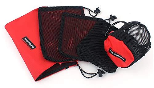 Sportive Direct Lot de 5 Pochettes Multifonctions avec Cordon de Serrage en Tissu Oxford Sac de Rangement pour extérieur