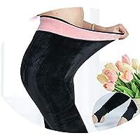 Leggings Las Polainas de Las Mujeres Usan Otoño E Invierno Más Pantalones de Terciopelo de Gran Tamaño, Muestran Pantimedias de Cintura Alta,Pie y Agujero e,Añadir fertiliz