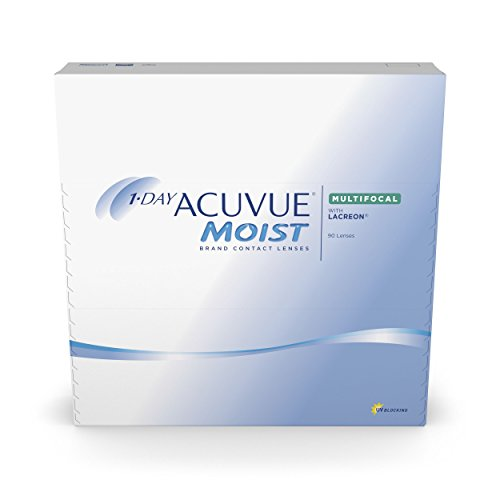 Acuvue 1-Day Moist Multifocal Tageslinsen weich, 90 Stück / BC 8.4 mm / DIA 14.3 / ADD High / -3.75 diopters