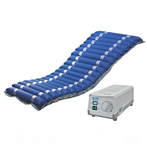 Preisvergleich Produktbild wei-d Dekubitus-Luftmatratze mit Kompressor Wechseldruckmatratze Auflagesystem mit Pumpe Anti Dekubitus ,  Blue