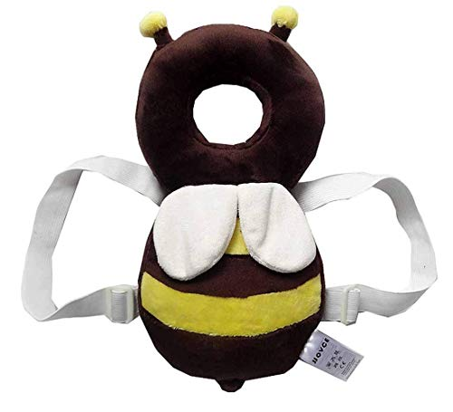 Baby-Kopf schützen Kissen, Kinderschutz Flügel-netter Baby-Kopf Cap Fallschutz Schutzpolster für Baby-Wanderer (braun groß)