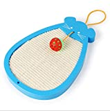 Kamiwwso Rat Sisal Ball Chat Grattoir Cat Grattage Cat Springboard Fournitures pour Animaux De Compagnie (Color : Blue)