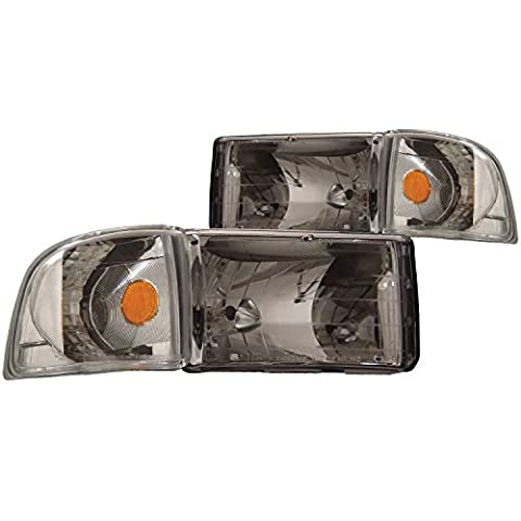 Anzo USA 111068 Dodge Ram Crystal Chrome with Corner Headlight Assembly - (Sold in Pairs) by AnzoUSA