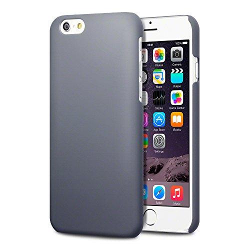 Terrapin Gummiertes Hardskin Hülle für iPhone 6S / iPhone 6 Hülle Grau Grau