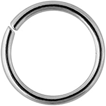 Blue Banana Body Piercing Acero Quirúrgico 1.2mm Seamless Ring (Silver)