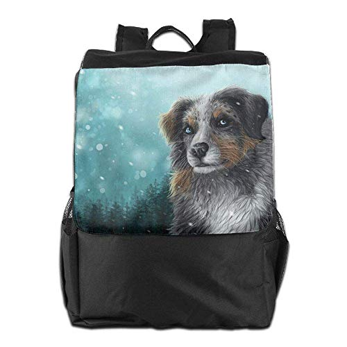 (Unisex Shepherd Dog in The Snow Print Custom Casual School Bag Backpack Multipurpose Travel ypack)