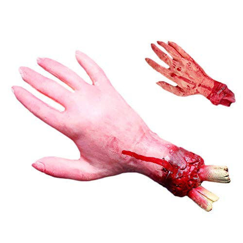 (Hatime Halloween Toys Sale!!Halloween Scary Fake Organ Prank Toys Halloween Horror Props Lifesize Haunted Pa,Scary Bloody Head House Decoration,Fake Severed Arm Hand and Ect (C) Halloween)