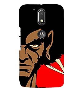 FUSON Illustration Of Samurai Warrior 3D Hard Polycarbonate Designer Back Case Cover for Moto G Play (4th Gen) :: Motorola Moto G4 Play