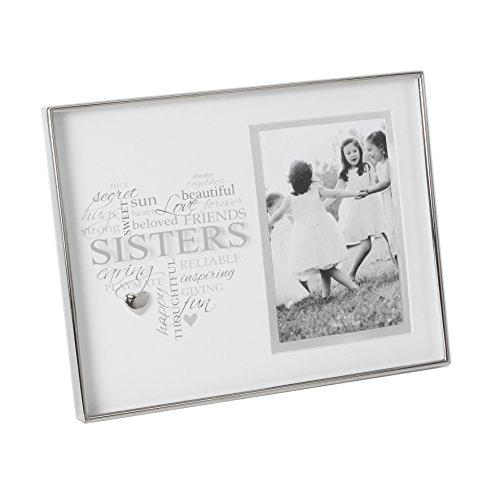 Schwestern Sentiment vernickelt Foto Rahmen 4x 6Neue Box (Schwestern Bilderrahmen)