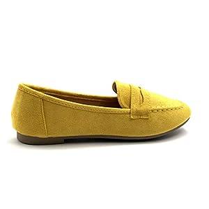 Angkorly - Damen Schuhe Bootsschuhe - BCBG - Slippers - stilvoll - Basic - Basic Flache Ferse 1 cm