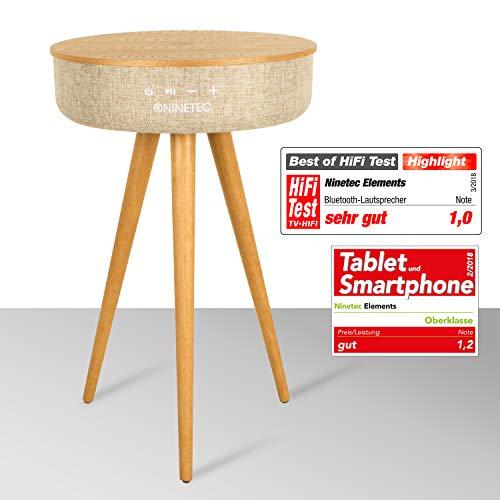 NINETEC Elements Premium Bluetooth Home Design Speaker und Tisch Esche