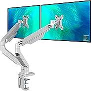 حامل شاشة الذراع المزدوج EleTab - حامل VESA قابل للتعديل الارتفاع يناسب شاشات الكمبيوتر من 43.18 سم إلى 81.28