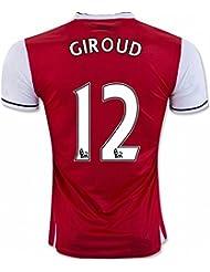 2016201712Olivier Giroud Arsenal Home Jersey de Football de football en rouge pour nouvelle saison petit Red