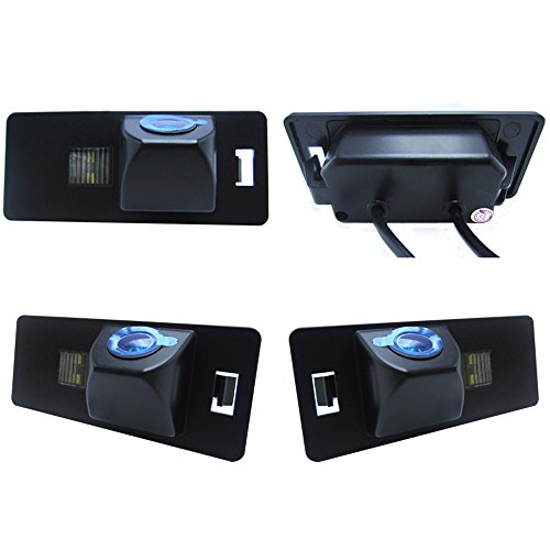 Dynavsal HD CCD Caméra de Recul Voiture en Couleur Kit Caméra Vue arrière de Voiture Imperméable IP67 avec Large Vision Nocturne pour A3 A4(B6/B7/B8) Q5 Q7 A8 S8