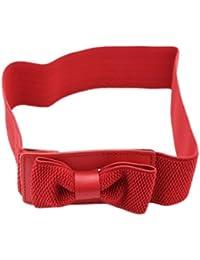 BONAMART femme joli tissu   belly bel objet de ceinture en cuir synthétique  élastique et large ceinture la belt ceinture… dd7c6c4a757