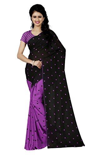 Kashvi sarees Women's Faux Georgette Saree With Blouse Piece (Mnp_1262_4, Multicolor, Free...