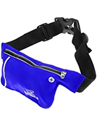ELECTROPRIME Unisex Ultrathin Outdoor Running Waist Bag Sports Pockets Bag -Sapphire Blue