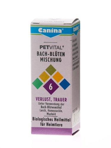 Canina 71450 6 Petvital Bachblüten Nr. 6 Verlust, Trauer 10 g - für Tiere