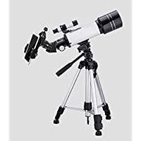 Dxtxx Astronomical telescope, monocular space tripod, portable outdoor viewing mirror with mobile phone holder,White