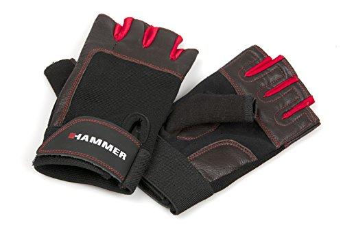 Hammer Martello guantoni da Boxe Guanti da Fitness, Unisex, Boxhandschuhe Fitnesshandschuhe, Nero/Rosso, XXL