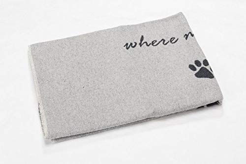 David Fussenegger - Haustierdecke - Home is Where My Dog is- Filz - Material: 85% Baumwolle, 8% Viskose, 7% Polyacryl - 100/140 -